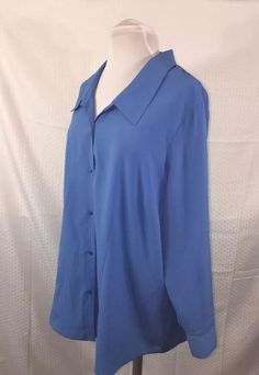 Avenue Studio Career Collared Button Down Blue Blouse Womans Plus SZ 22/24 (H)  | eBay