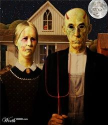 American Gothic Zombie Style