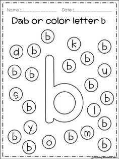 Letter B Worksheets, Letter Worksheets For Preschool, Preschool Writing, Kindergarten Lesson Plans, Alphabet Activities, Numbers Preschool, Letters For Kids, Alphabet For Kids, Teaching Letters