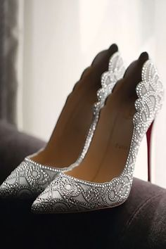 24 Gorgeous Bridal Shoes For Stunning Brides ❤️ See more: http://www.weddingforward.com/gorgeous-bridal-shoes/ #weddings #shoes