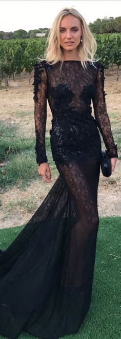 Kristin Olenik SLAYED in Evening by #BERTA at Leonardo Dicaprio's Foundation 2017 Gala