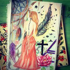 It's a beautiful drawing or a tattoo idea.