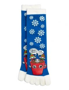 Shop Holiday Toe Socks and other trendy items at Justice. White Toes, Christmas Gift List, Slipper Socks, Slippers, Shop Justice, Toe Socks, Monogram Design, Girls Socks, Tween Fashion