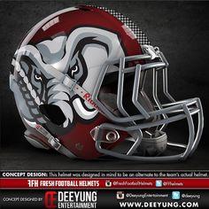 Deeyung Entertainment College Football Helmet Designs (with images) · Alabama Football Helmet, Football Helmet Design, College Football Uniforms, College Football Helmets, Football Usa, Crimson Tide Football, Custom Football, Alabama Crimson Tide, American Football