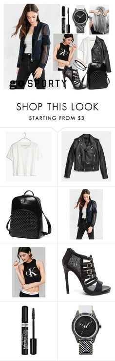 """Sporty in Black&White"" by artasshine ❤ liked on Polyvore featuring Madewell, Coach, Princess Carousel, Silence + Noise, Calvin Klein, Capelli New York and Accessorize"