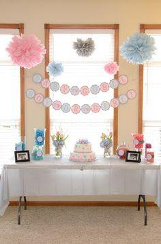 Gender Reveal Party Decoration Centerpiece GracesGardens