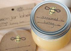 honey bee mason jar gift labels