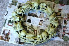 SouthernScraps Happenings: Dollar Tree skeleton wreath tutorial