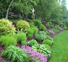 backyard-hill-landscaping-ideas_gardening-ideas-for-slopes_landscape . backyard-hill-landscaping-i Backyard Hill Landscaping, Steep Hillside Landscaping, Sloped Backyard, Backyard Shade, Sloped Garden, Backyard Garden Design, Backyard Landscaping, Landscaping Ideas, Backyard Ideas