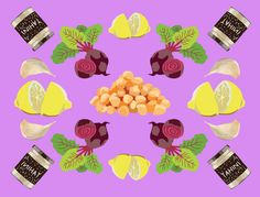 This bright and light spin on the original makes for a beautiful crudités dip. Make things easy on yourself and get cooked beets and chickpeas from the grocery store salad bar.