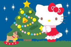 Hello Kitty Christmas, Christmas Cats, Christmas And New Year, Merry Christmas, Hello Kitty Backgrounds, Hello Kitty Wallpaper, Sanrio, Ghost Drawing, Hello Kitty Pictures