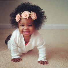 I love my baby with bed head afro. Beautiful Black Babies, Beautiful Children, Baby Kind, Pretty Baby, Pretty Eyes, Cute Kids, Cute Babies, Cute Black Babies, Kind Photo