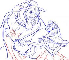 How to Draw Beauty and The Beast