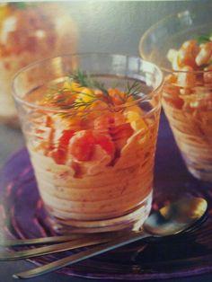 Antipasto con gamberetti. Le ricette dello Chef del ristorante Giglio Rosso di Firenze.