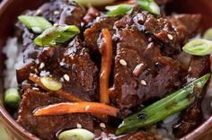 Slow Cooker Mongolian Beef recipe is the easiest way to make Mongolian Beef! Perfectly tender beef in a silky ginger soy glaze, with great sweet and spicy flavors! Slow Cooker Mongolian Beef Recipe, Mongolian Beef Recipes, Crock Pot Slow Cooker, Slow Cooker Recipes, Crockpot Recipes, Cooking Recipes, Easy Meat Recipes, Entree Recipes, Asian Recipes