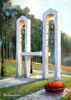 Angelus no Mosteiro- óleo