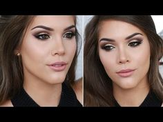 NEW YEARS EVE MAKEUP TUTORIAL |Soft Gold Glitter Cut Crease + Winged Liner - YouTube