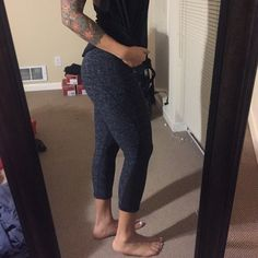 Practically new Zella leggings Sz small Worn once Zella crops size small. Color is a blackish/navy/white space dye. These are reversible like almost all Zella leggings. Super cute and comfy and perfect conditions. I just have way too many workout clothes! Zella Pants
