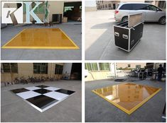 RK Wedding Black And White Dance Floor For Sale
