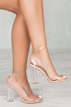 ab2c28386ae Maria Transparent Heel (Nude)  Stilettoheels Plastic Heels
