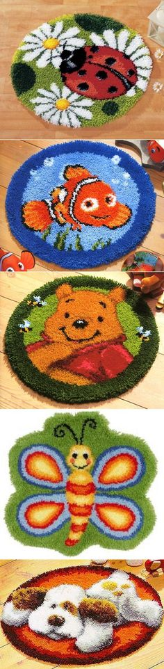 Коврик ручной работы Crochet Cow, Diy And Crafts, Arts And Crafts, Latch Hook Rugs, Art Projects For Teens, Loom Knitting, Rug Hooking, Handmade Rugs, Rugs On Carpet
