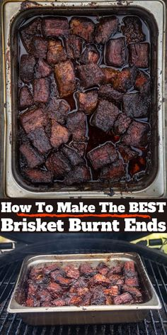 The Ultimate Brisket Burnt Ends - Vindulge A recipe for Beef Brisket Burnt Ends using American Wagyu beef. Burnt Ends are one of the ultimate treats in BBQ and make an excellent appetizer. Learn how to make beef burnt end as well as a brisket flat. Beef Brisket Recipes, Smoked Beef Brisket, Traeger Recipes, Smoked Meat Recipes, Grilling Recipes, Brisket Flat, Cooking Brisket, Spinach Recipes, Brisket Sauce Recipe