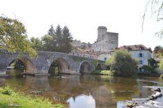 Medieval Bourdeilles on the river Dronne