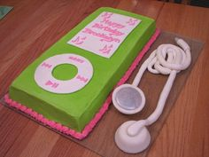 Awesome Birthday Cakes For Girls | ipod nano cake this is an ipod nano cake for a 10 year old girl the ...