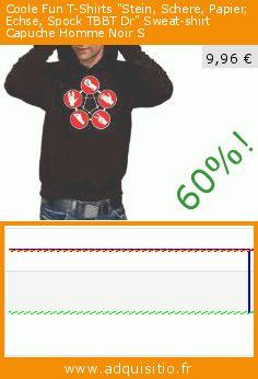 """Coole Fun T-Shirts """"Stein, Schere, Papier, Echse, Spock TBBT Dr"""" Sweat-shirt Capuche Homme Noir S (Sports Apparel). Réduction de 60%! Prix actuel 9,96 €, l'ancien prix était de 24,89 €. https://www.adquisitio.fr/coole-fun-t-shirts/coole-fun-t-shirts-stein-1"""