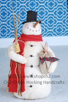 Christmas in July SALE Snowman, Snow Wishin' Snowman - pinned by pin4etsy.com