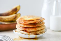 Pineapple Upside Down Banana Pancakes via TastyKitchen