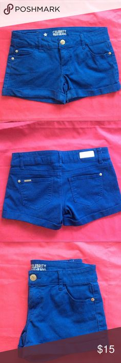 """ELECTRIC BLUE CELEBRITY PINK*JEANS SHORTS SIZE 7 REALLY CUTE """"NWOT"""" ELECTRIC BLUE CELEBRITY PINK*JEANS SHORTS. SIZE  7 ,INSEAM 3"""" WAIST 15"""" .SORRY NO TRADES. Celebrity Pink Shorts Jean Shorts"""