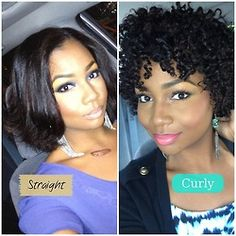 I love the versatility of natural hair…the best of both worlds & her make-up is a beast!