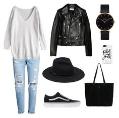 """Untitled #15"" by miskapre on Polyvore featuring H&M, Yves Saint Laurent, Vans, TOMS, CLUSE and Casetify"