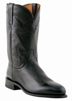 Lucchese Men's Handcrafted 1883 Lonestar Calf Roper Boot Round Toe Black 12 D(M) US - http://authenticboots.com/lucchese-mens-handcrafted-1883-lonestar-calf-roper-boot-round-toe-black-12-dm-us/