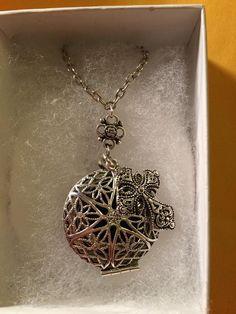 Silver cross diffuser necklace