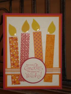 More BIG Candles! by megala3178 - Cards and Paper Crafts at Splitcoaststampers