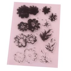CCINEE 1PCS Flower Style Clear Stamp DIY Silicone Seals Scrapbooking/Card Making/Photo Album Decoration Supplies