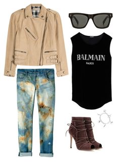 """cool"" by abbey-ceee ❤ liked on Polyvore featuring Stussy, Burberry, Ice, Balmain and Gianvito Rossi"