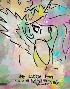 My little pony princess celestia Celestia And Luna, Princess Celestia, My Little Pony Princess, Mlp, Hasbro My Little Pony, Unicorn Drawing, Little Poni, Some Beautiful Pictures, Drawing Practice
