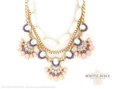 Peach Vintage Style Statement Necklace by WhiteAisleBoutique, $32.00