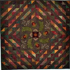 pattern #411 Harvest Medallion - love medallion quilts! and the beautiful fall colours!