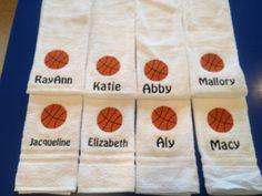 Basketball sport towel personalized by LindaKaysCreations on Etsy Basketball Awards, Basketball Crafts, Basketball Party, Basketball Is Life, Basketball Drills, College Basketball, Basketball Players, Basketball Birthday, Girls Basketball