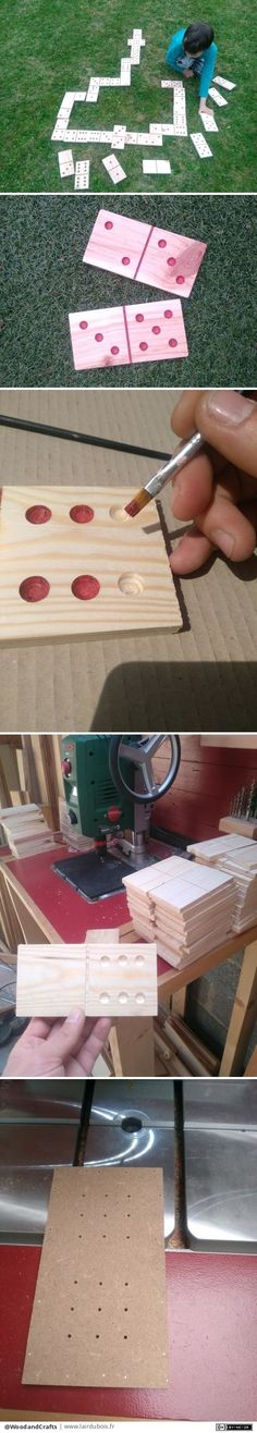 Giant Domino par WoodandCrafts - Fabrication de domino géant ( pas trop non plus, 15*7.5*1.5 ) pour la kermesse de l'école de mes enfants en guise de lots. Une journée complète a dégauchir, raboter, débiter et faire les points. Là, je... Bois Diy, Water Party, Decoration, Wedding Day, Lots, Gourd, Centre, Crafting, Infancy