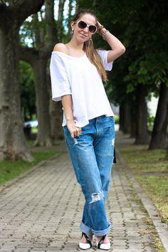 #fashion #fashionista @Barbie Laura BarbieLaura - fashion blog-: Boyfriend jeans and maxi tee