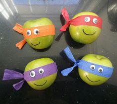 Baby Ninja Turtle, Ninja Turtle Birthday, Ninja Turtle Party, Baby Turtles, Ninja Turtles, Halloween Class Party, Fun Halloween Crafts, Fun Snacks For Kids, Kids Meals