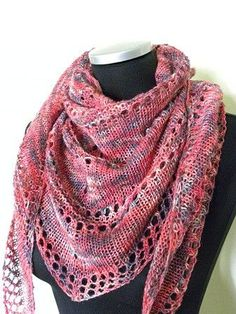 This new pattern has a nice story. One afternoon I was talking to my dear friend… - Dreieckstuch Stricken Knit Or Crochet, Lace Knitting, Crochet Shawl, Knitting Patterns Free, Knit Patterns, Free Pattern, Knitting Buttonholes, Crochet Vests, Crochet Cape