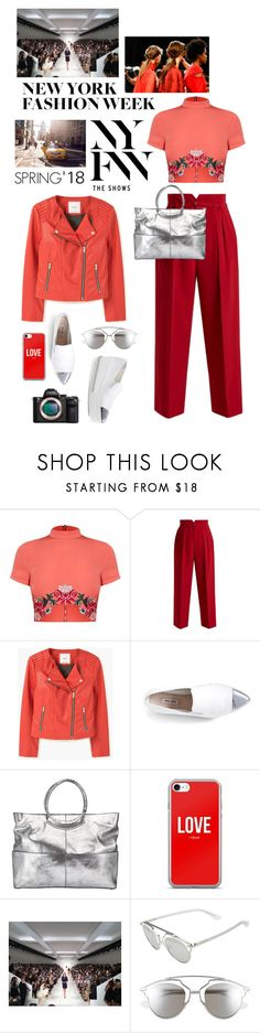 """""""What to Wear to NYFW"""" by shortyluv718 ❤ liked on Polyvore featuring Philipp Plein, RED Valentino, MANGO, Miu Miu, Kin by John Lewis, Sony, Christian Dior and NYFW"""