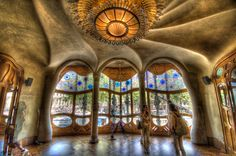 View of Casa Battlo's main salon.  Yep - that used to be someone's Living Room.  Sigh...