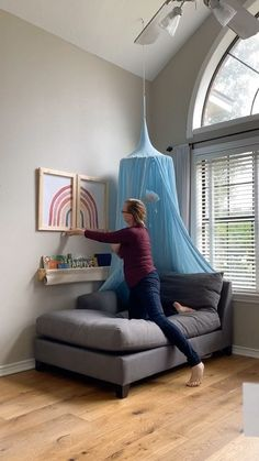 bluehousejoys on Instagram: Creating a beautiful snuggly spot in your home in 30 seconds ❤️ Baby Boy Nursery Decor, Baby Boy Nurseries, Playroom Organization, Nursery Inspiration, Kid Spaces, 30 Seconds, Hanging Chair, Floor Pillows, Bean Bag Chair